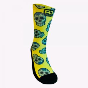 calcetines calaveras crossfit rd socks fluor